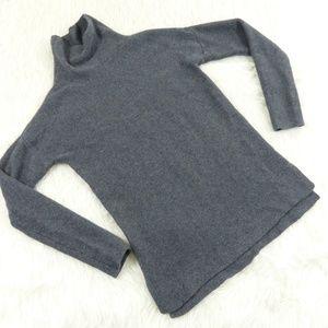 Banana Republic Gray Cashmere Cowl Neck Sweater
